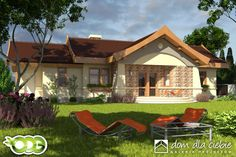 Projekt domu Kuropatwa - wariant A - odbicie lustrzane - Dom Dla Ciebie Good House, Gazebo, Outdoor Structures, Outdoor Decor, Chili, Houses, Home Decor, Homes, Kiosk