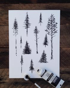 "16.9k Likes, 279 Comments - Sam Larson (@samlarson) on Instagram: ""Painting trees for a pattern.  I almost always make up my trees from past travels/memories. So,…"""