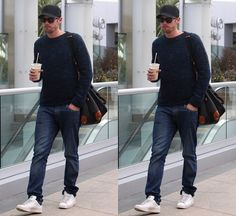 Alexander Skarsgard with Mulberry Clipper