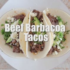 No need to head to Chipotle when you can make mouth-watering beef barbacoa at ho. - Food & Recipe Videos - No need to head to Chipotle when you can make mouth-watering beef barbacoa at home in a crock pot! Meat Recipes, Slow Cooker Recipes, Mexican Food Recipes, Crockpot Recipes, Dinner Recipes, Cooking Recipes, Healthy Recipes, Cooking Games, Cooking Tips