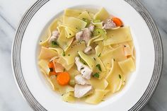 This is the best chicken noodle soup I have ever had. Definitely parboil the chicken pieces. Chicken Soup Recipes, Chick Fil A Chicken Noodle Soup Recipe, Recipe Chicken, Cooking Recipes, Healthy Recipes, Simply Recipes, Soup And Sandwich, Soup And Salad, Soups And Stews