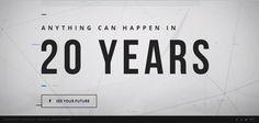 MyLifeIn20Years.com | Utilizando la conexión a facebook, mylifein20years.com plantea tu vida en durante los próximos 20 años. Comenzando desde el día actual en el 2033, combina noticias y comentarios de amigos para finalizar promocionando #Rectify la nueva serie en Sundance Channel.