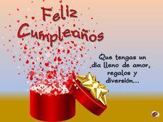 Felicitaciones - El Pequeño Universo de Maika Happy Birthday In Spanish, Happy Birthday Notes, Happy Birthday Images, Happy Birthday Greetings, Girl Birthday, Love Heart Gif, Birthday Balloons, Birthday Decorations, Holiday Parties