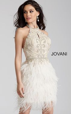 White rehearsal dinner dresses for brides by Jovani including short and midi length designs. Find your favorite Rehearsal Dinner dress at Jovani. Prom Dresses Jovani, Homecoming Dresses, Bridal Dresses, Evening Dresses, Party Dresses, Bridesmaid Dresses, Feather Skirt, Rehearsal Dinner Dresses, Chiffon