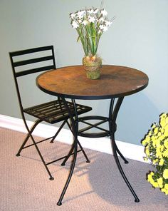 3 Pc Table w Slate Top & Chairs Set  $204