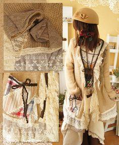 Tumblr Mori Girl Fashion, Forest Girl, Japanese Fashion, Hippie Style, Mori Style, Take That, Bohemian, Indian, Clothes For Women