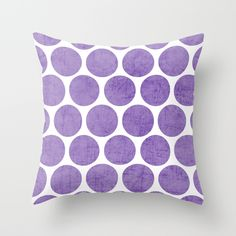 purple+polka+dots+Throw+Pillow+by+Her+Art+-+$20.00