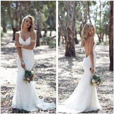 LACE APPLIQUE OFF SHOULDER MERMAID STYLE WEDDING DRESS BOHEMIAN WEDDING DRESS