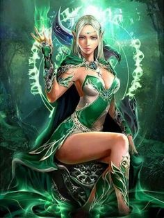 The who is who in the Fantasy Digital and Graphic Art world and their work Fantasy Art Women, 3d Fantasy, Beautiful Fantasy Art, Fantasy Warrior, Fantasy Artwork, Warrior Angel, Elves Fantasy, Elfa, Character Portraits