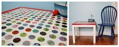 DIY Bottle Cap Ikea Table Revamp — Saved By Love Creations