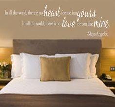 Maya Angelou soulmate quote vinyl wall decal.