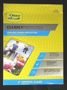 OTTER BOX Clearly Protected HI-RES Clear Screen Protector for Apple iPad Mini 3 #OtterBox