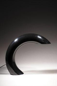 Georges Frydman; Enameled Metal Table Lamp, 1960s.