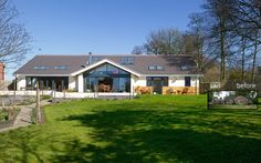 Eco / Disability Self Build, West Yorkshire Dormer Bungalow, Bungalow House Plans, Bungalow Ideas, Bungalow Extensions, House Extensions, Residential Architect, Architect House, Modern Bungalow Exterior, House Makeovers