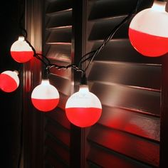 Fishing Bobber Party Lights. I made my own. Really easy.
