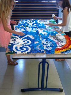 Fresque réalisée par des enfants de primaire