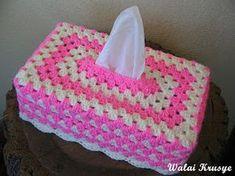 Granny stitch tissue box cover