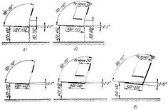 Рис. 32. Функциональные размеры: а - стульев, б - рабочих кресел, в - диванов и кресел для отдыха