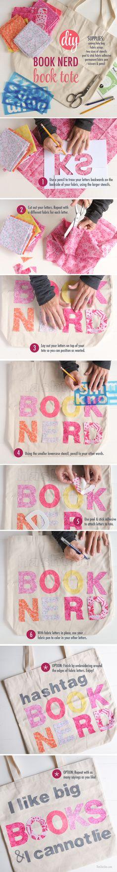 DIY Book Tote ~ usin