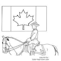 awesome canada day mountie coloring page