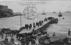 Desembarco de Alhucemas: Cala del Quemado. Desembarco de fuerzas.