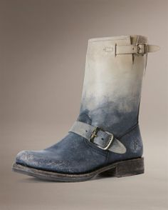 With a unique combo of tie-dyed, already-broken-in detailing, this is a winner . and a keeper. Women's Veronica Short by The Frye Company Biker Boots, Cowgirl Boots, Riding Boots, Fry Boots, Frye Veronica Short, The Frye Company, Everyday Shoes, Short Boots, New Shoes