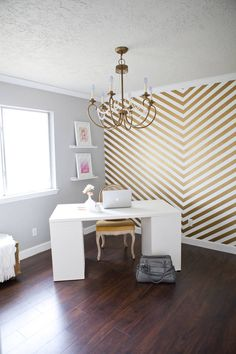 Chevron still has some lifespan left, but not enough to justify painting your whole wall in thick, bold zigs and zags. If you like the pattern, get a blanket or small rug, but on your walls? It just looks dated, especially in the gray-and-white tones DIY bloggers have gone ga-ga for. Painting chevrons is a complicated project with a limited lifespan, especially considering how soon you'll have to re-paint your walls.