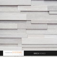 The incredibly gorgeous 'Birch' panel from Realstone. Just looking at the swatch makes me envision sleek spa bathrooms and swanky hotel lobbies.