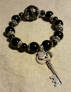 Bracelet black with key