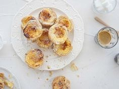 Delicious custard tarts which can be served hot or cold.
