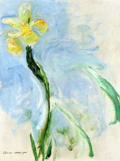 Yellow Iris ~ Claude Monet ♣️Fosterginger.Pinterest.Com♠️ More Pins Like This One At FOSTERGINGER @ PINTEREST No Pin LimitsFollow Me on Instagram @  FOSTERGINGER75 and ART_TEXAS