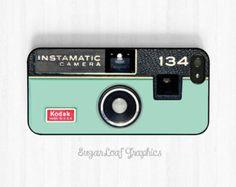 Camera iPhone 6 Case, Mint Green Pastel iPhone 6 Plus 5s 5c 5 4s, Samsung Galaxy S5 S4 S3, Note 3 Case Retro Kodak Instamatic Case NP15