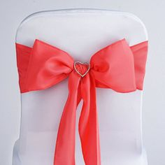 Coral Polyester Sash | eFavorMart /  Plan as many events as you want and invite as many guest as you desire without even worrying about the expenses and your budget. With our sturdy and economical polyester chair sashes, you can now transform any dining experience into a magnificent feast with an upscale feel and an elite look without breaking the banks. Get inspired by our premium quality polyester chair sashes that open the gates of creativity and ingenuity. With such a high standard…
