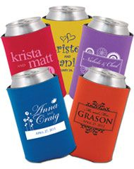 Cheap place to order personalized koozies! Great for weddings, businesses, parties, etc.