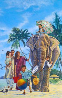 Una familia disfrutando de la vida en el Paraíso
