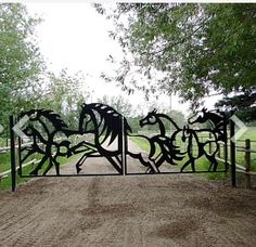 """This would be the """"Welcome to my awesome dream barn"""" gate Dream Stables, Dream Barn, Horse Stables, Horse Barns, Future Farms, Equestrian Decor, Horse Property, Horse Ranch, Entrance Gates"""