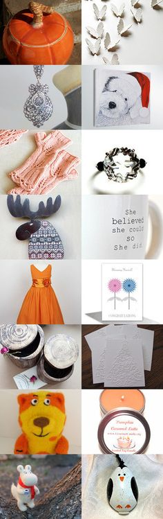 Orange and White gifts  by Lily Bhattacharya on Etsy--Pinned with TreasuryPin.com