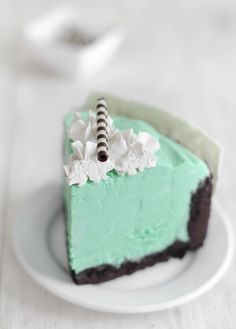 Gorgeous slice of mint cake