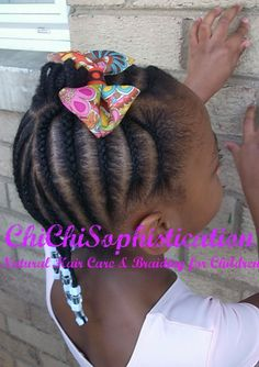 Simple Cornrow Style for child age 5.