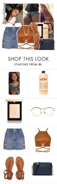 """all i need is a little loving tonight. all i need is a little love in the dark"" by chynelledreamz ❤ liked on Polyvore featuring philosophy, Yves Saint Laurent, Linda Farrow, Topshop, Aéropostale, MICHAEL Michael Kors and Sydney Evan"