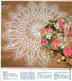 Crochet large doily ♥LCD-MRS♥ with diagrams.