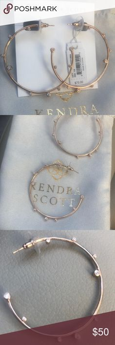 Kendra Scott Hoop Earrings Rose gold - Letty Kendra Scott Earrings - NEW WITH TAGS Kendra Scott Jewelry Earrings