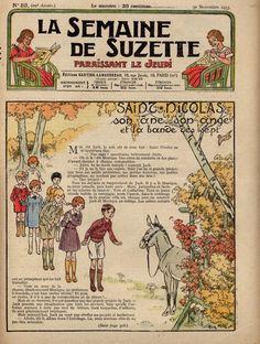"""Extrait de ma collection """"La Semaine de Suzette"""" illustré par Henri Morin"""