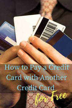 Can you pay a credit card with a credit card? But if you're not careful, it can cost a lot of money. Here's how to do it for free.
