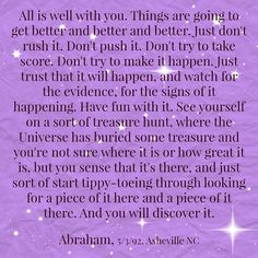 "I like that.. ""see yourself on a sort of a treasure hunt"" I'm always getting signs & it really is fun!  Thank you universe! ♡"