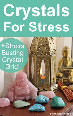 Looking for crystals for stress relief and stress management? These 6 crystals can help you reduce stress at work or at home. Try my stress busting Crystal Grid for instant relaxation.#wellness
