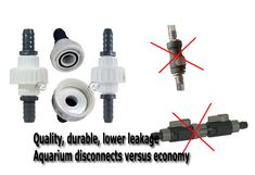 Based on considerable aquarium design plumbing experience, I would be weary of most disconnects sold by pump, filter, or any other aquarium supply manufacturers as while simple, these are usually light duty and are much more prone to leaking than much more durable PVC compression union disconnects which use a more sure screw on method and much better O ring.