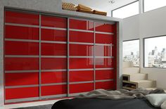 These #slidingdoors are not only space savers but an elegant choice to adorn your #bedroom and closets.