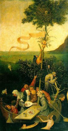 Hieronymus Bosch - The Ship of Fools (Louvre Museum) ヒエロニムス・ボス Hieronymus Bosch, Renaissance Kunst, Garden Of Earthly Delights, Dutch Painters, Great Paintings, Medieval Art, Renoir, Oeuvre D'art, The Fool