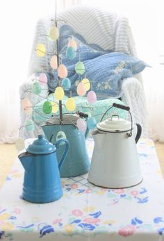 erin's art and gardens: spring easter room...